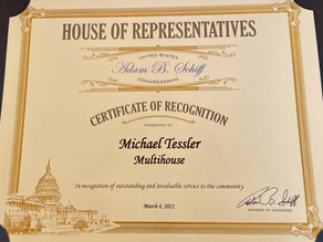 Multihouse Receives Congressional Recognition from Rep. Adam Schiff