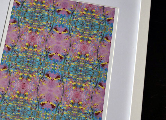 A4 Rose Quartz Mirrored Print
