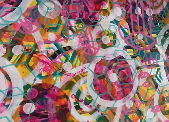 Hexagonal Rain Realm A3 Original