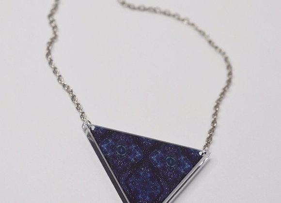 #MirroredAbstract Blue Diamond Goddess Energy Necklace