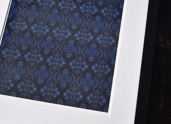 A4 Blue Diamond Mirrored Print