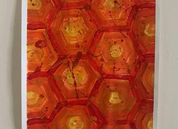 Realm of Hexagons A3 Original