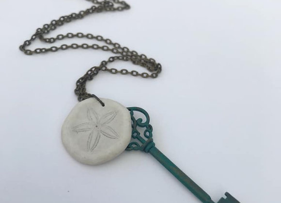 Sand Dollar and Key Talisman Necklace
