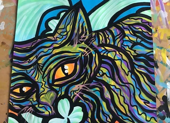 Grass Cat A3 Original