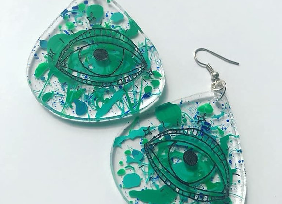 Abstract Mystic Eye Earrings
