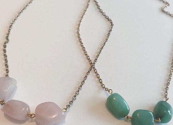 Trio Crystal Goldtone Necklace