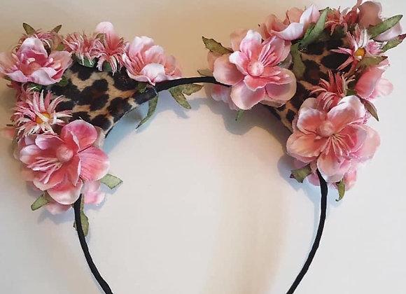Floral Cat Ear Headpiece