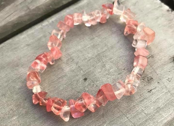 Strawberry Quartz Stretch Bracelet
