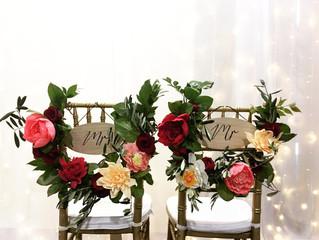 Wedding crepe flowers