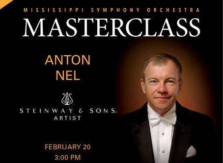 MASTERCLASS with Anton Nel, piano