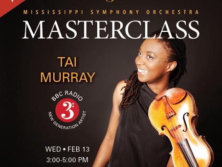 MASTERCLASS with Tai Murray, violinist