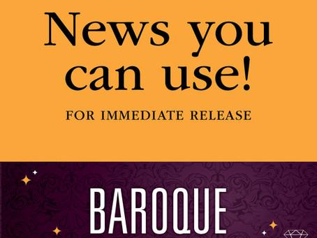 FOR IMMEDIATE RELEASE: A glittering 75th Anniversary Season opener, the Baroque concert