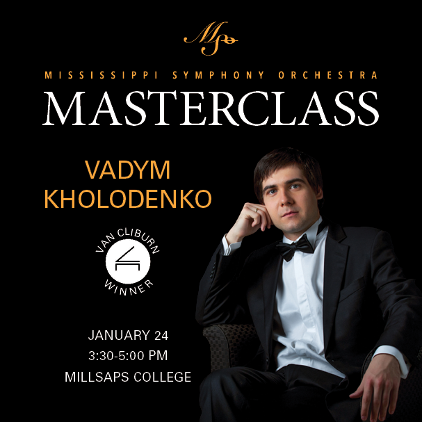 Mississippi Symphony Orchestra and Millsaps present A Masterclass with Vadym Kholodenko