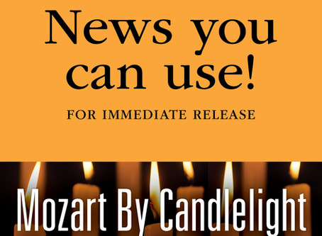 FOR IMMEDIATE RELEASE: MSO's Mozart by Candlelight to Travel Central Mississippi