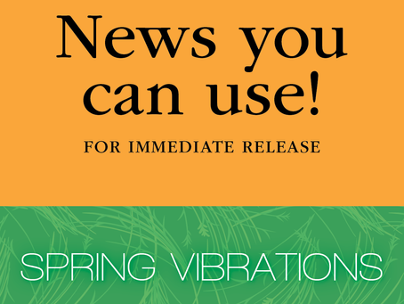 FOR IMMEDIATE RELEASE: Classical's Greatest Hits with Pachelbel, Barber & more in Spring Vibrations