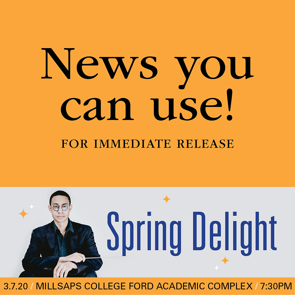 "For Immediate Release: MSO's Guest Conductor Prime Draw for ""Spring Delight"""