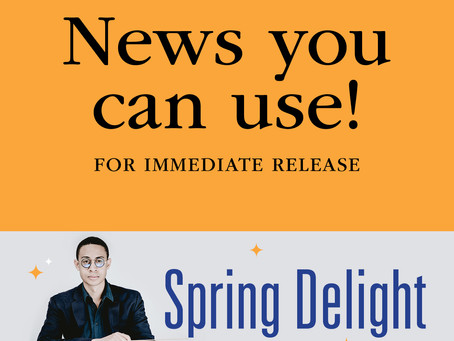 "FOR IMMEDIATE RELEASE: ""Spring Delight"" features Guest Conductor & Classical Guitarist"