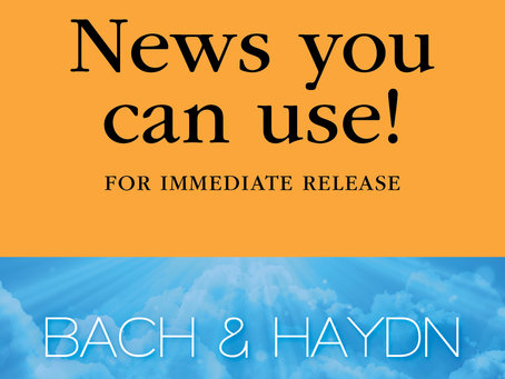 """FOR IMMEDIATE RELEASE: Masterpieces in Pairs with Bravo IV Concert """"The Influencers Bach & Haydn"""""""