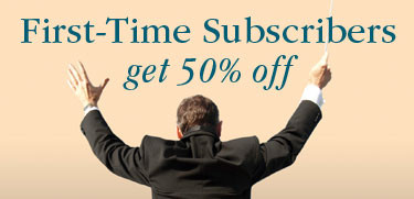 First-time Subscribers get 50 percent off