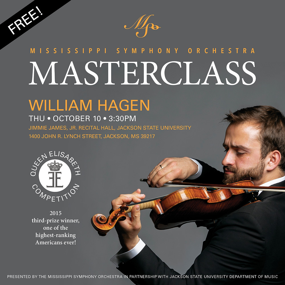 Mississippi Symphony Orchestra and Jackson State University present A Masterclass with William Hagen