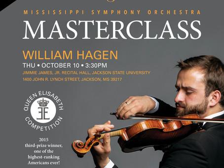 MASTERCLASS with William Hagen, violinist