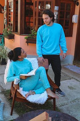 Calça Feminina Azul Caribe