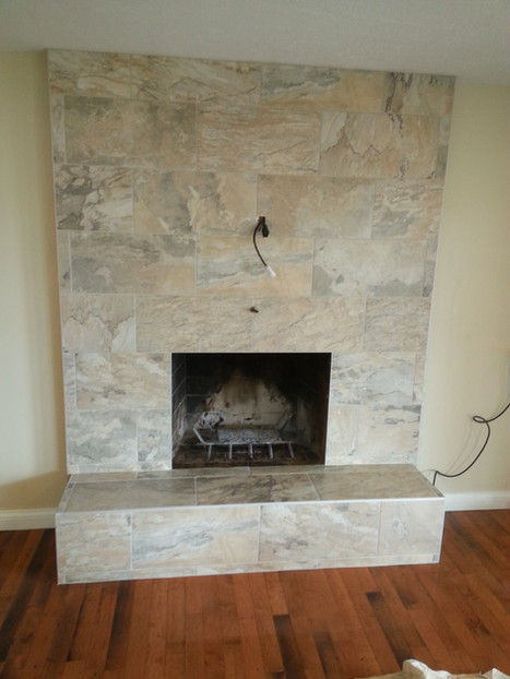12x24 rectified porcelain with stone appearance