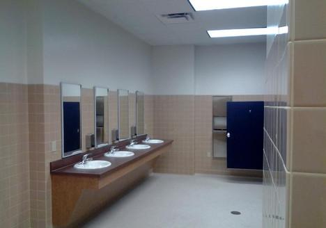 Men's room gang bathroom Ft Benning