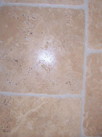 Open face travertine-close up.