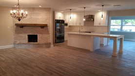 Porcelain plank throughout