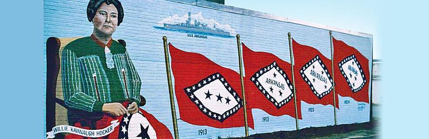 The Arkansas Flag Mural
