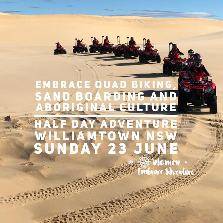 Embrace Quad Biking, Sand Boarding and Aboriginal Culture