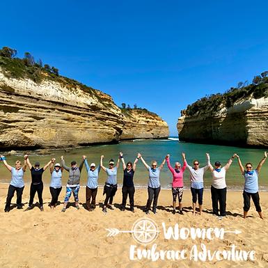 Women Embrace the Great Ocean Walk