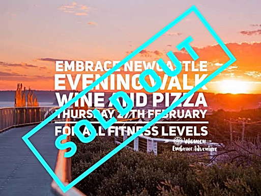 SOLD OUT Embrace Newcastle Evening Walk, Wine and Pizza