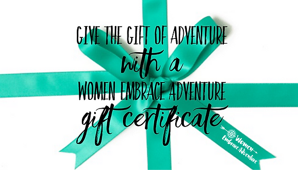 Women Embrace Adventure Gift Voucher