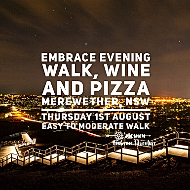 Embrace Newcastle Evening Walk, Wine and Pizza