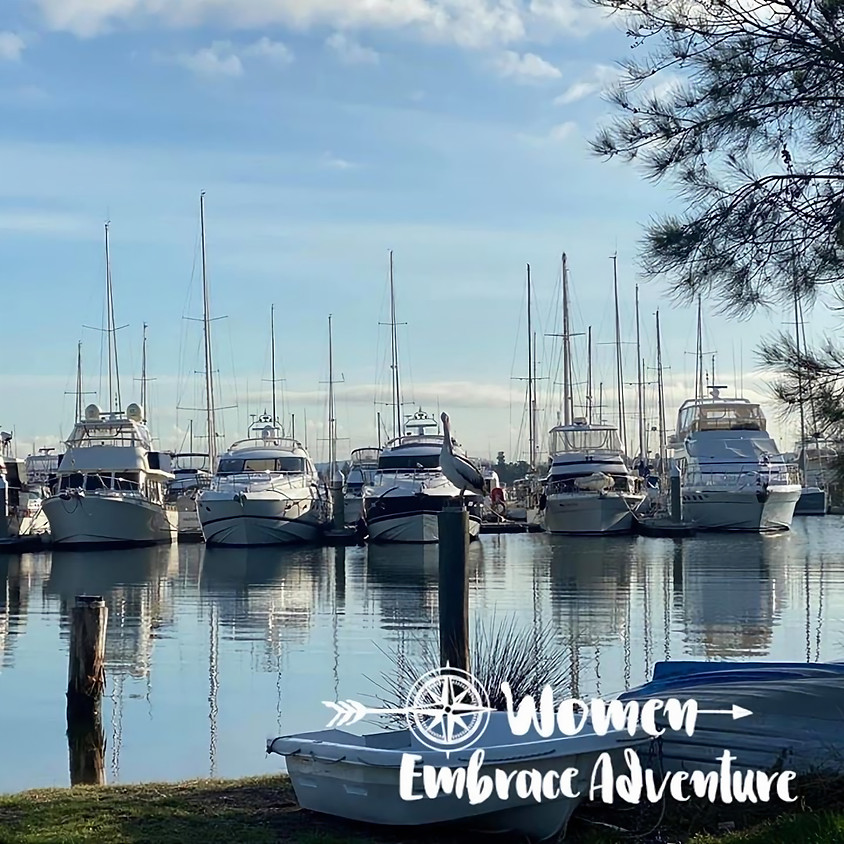 Women Embrace Hiking Awaba Bay Lake Macquarie