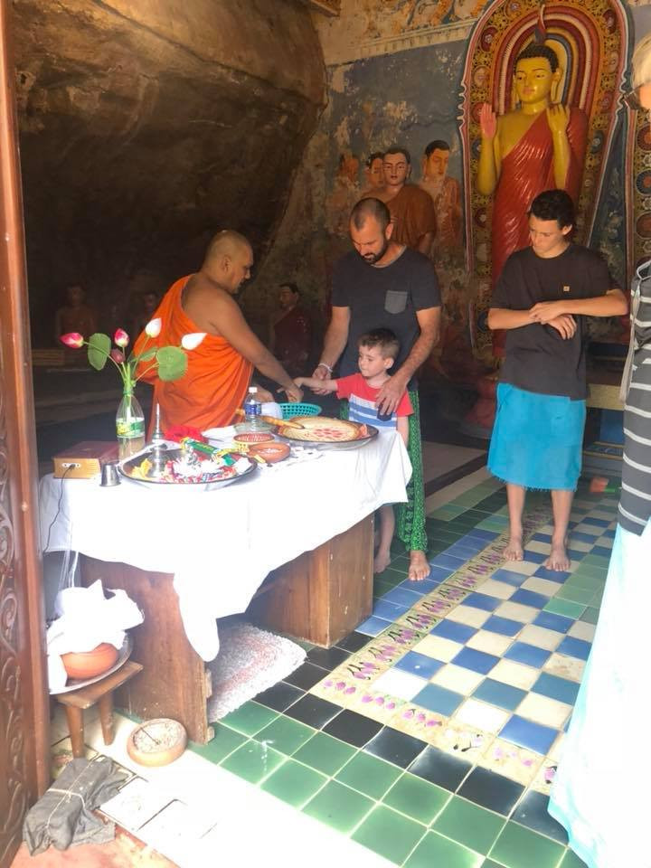 Tyler being blessed Sri Lanka