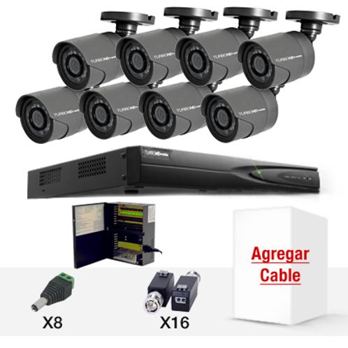 KIT DE CCTV OCHO CÁMARAS HD720