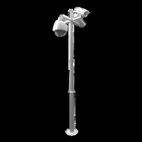 Poste seccionado especializado para la instalación de CCTV.
