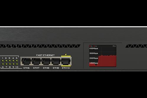 Router Board, CPU 1 Núcleo, 5 Puertos Gigabit, 5 Puertos Fast, 1 Puerto SFP,