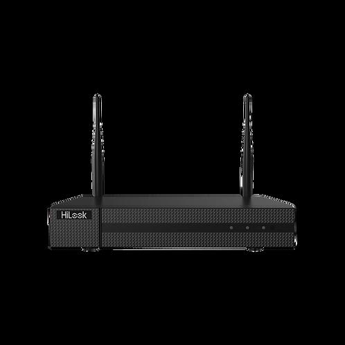 NVR 4 Megapixel / 4 canales IP / 1 Bahía de Disco Duro / 2 Antenas WIFI /