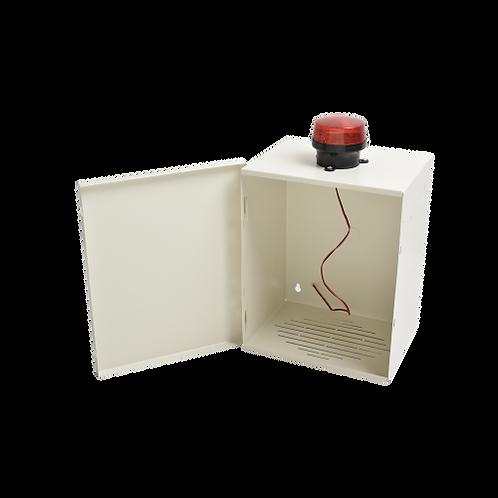Gabinete de Resguardo de Sirena de 30 Watts con Alerta Visual Estroboscópica.