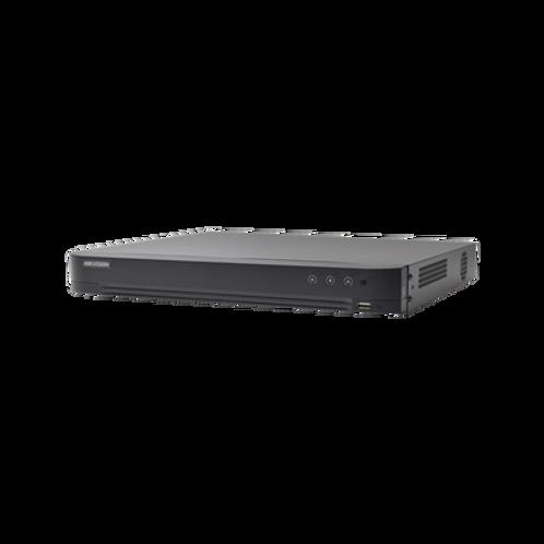 DVR 4 Megapixel Lite / 16 Canales TURBOHD + 8 Canales IP /2 Bahías de Disco Duro