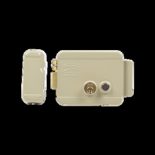 Cerradura Eléctrica / Incluye Llave /Con Botón integrado / Izquierda / Exterior