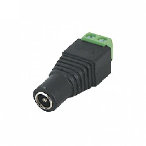 Adaptador tipo jack de 3.5 mm hembra polarizado de 12 Vcd