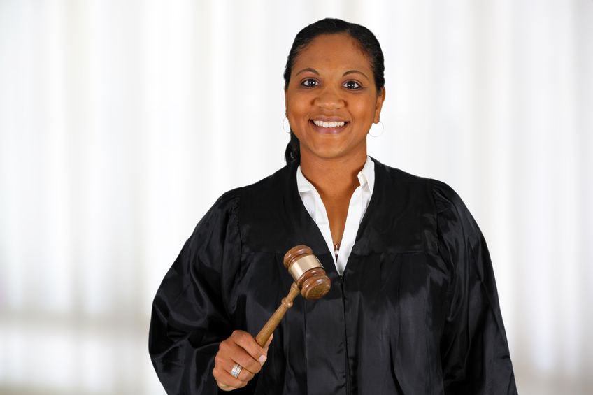 female judge with gavel