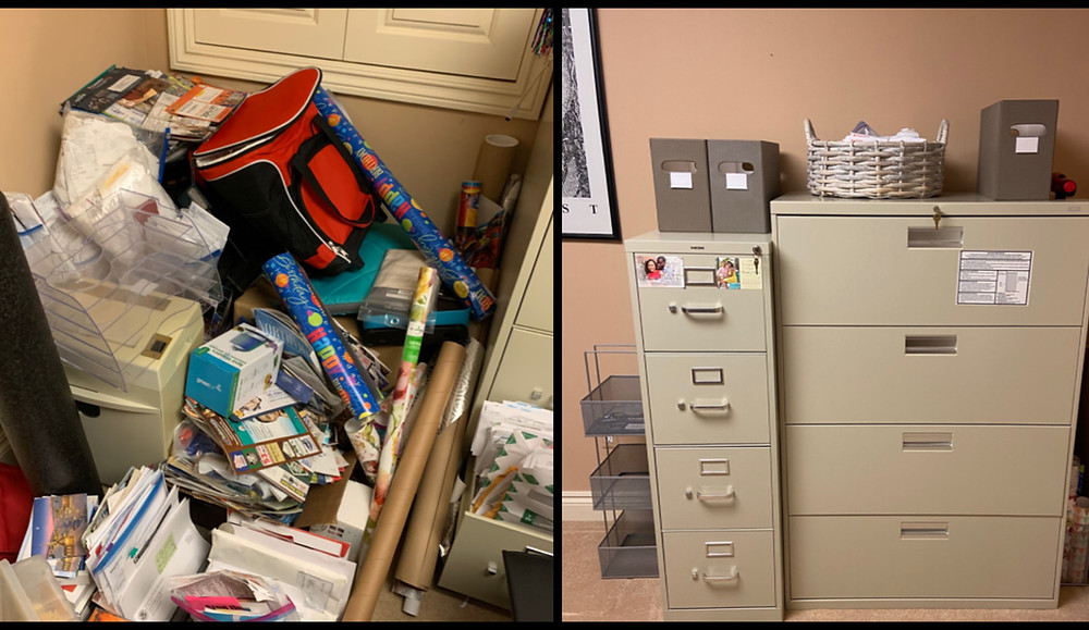 Before and After organization in office
