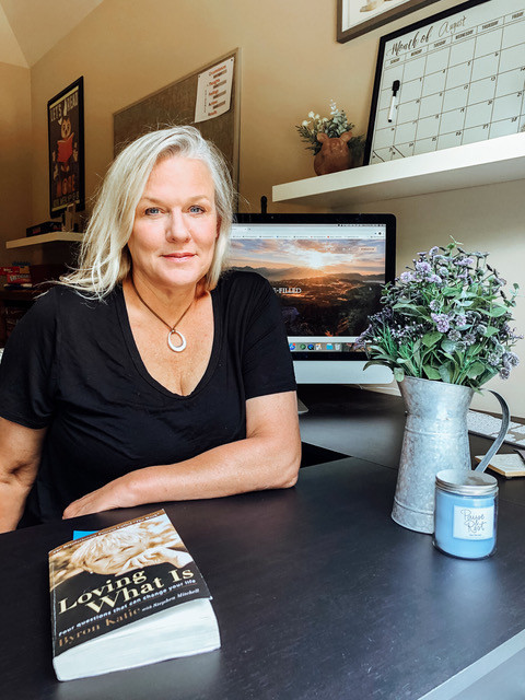 Kerry Rasenberger, Life Coach at her desk