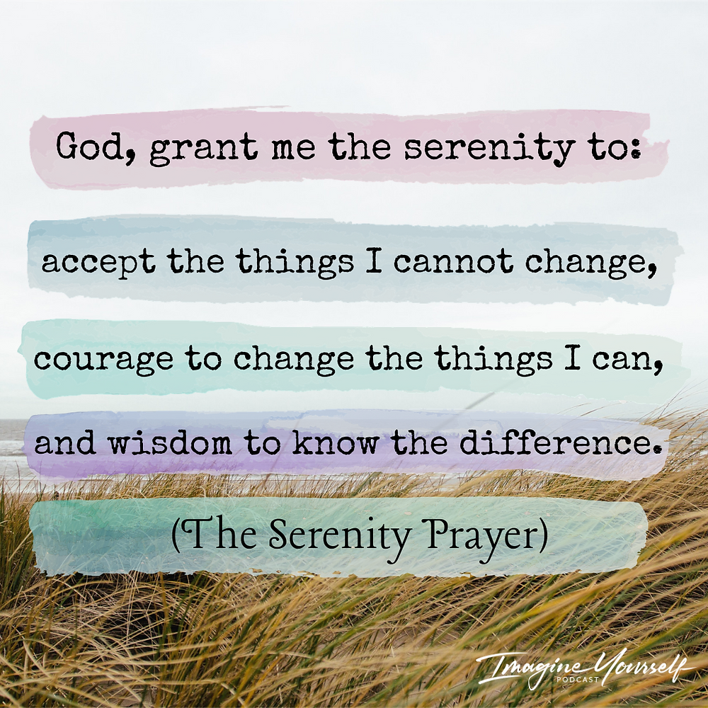 Calming picture with the serenity prayer